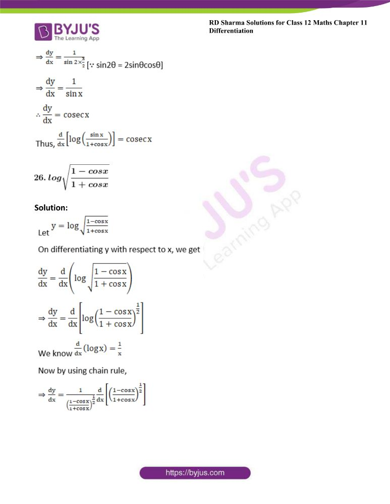 RD Sharma Class 12 Maths Solutions Chapter 11 Differentiation 34