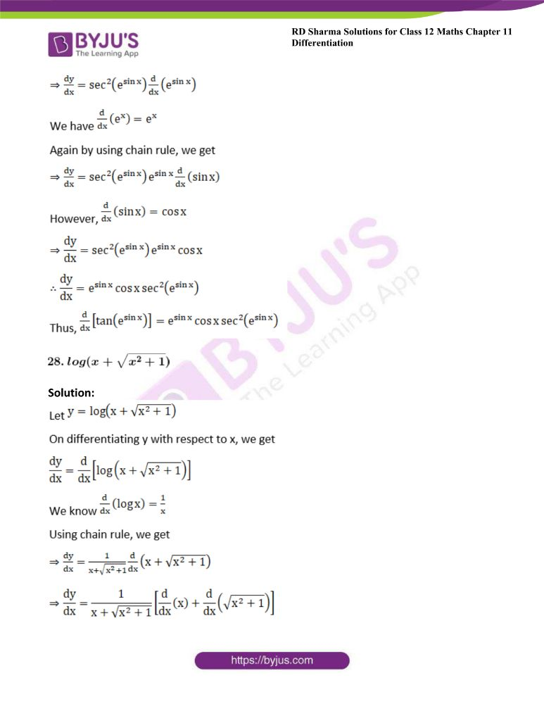 RD Sharma Class 12 Maths Solutions Chapter 11 Differentiation 37