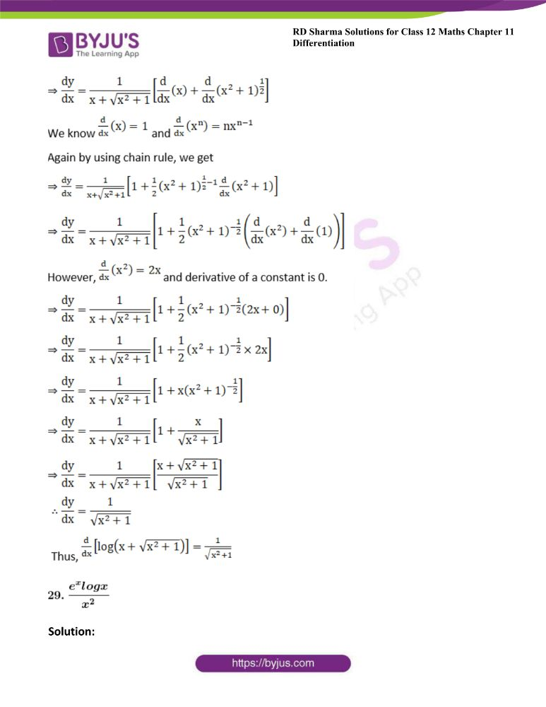 RD Sharma Class 12 Maths Solutions Chapter 11 Differentiation 38