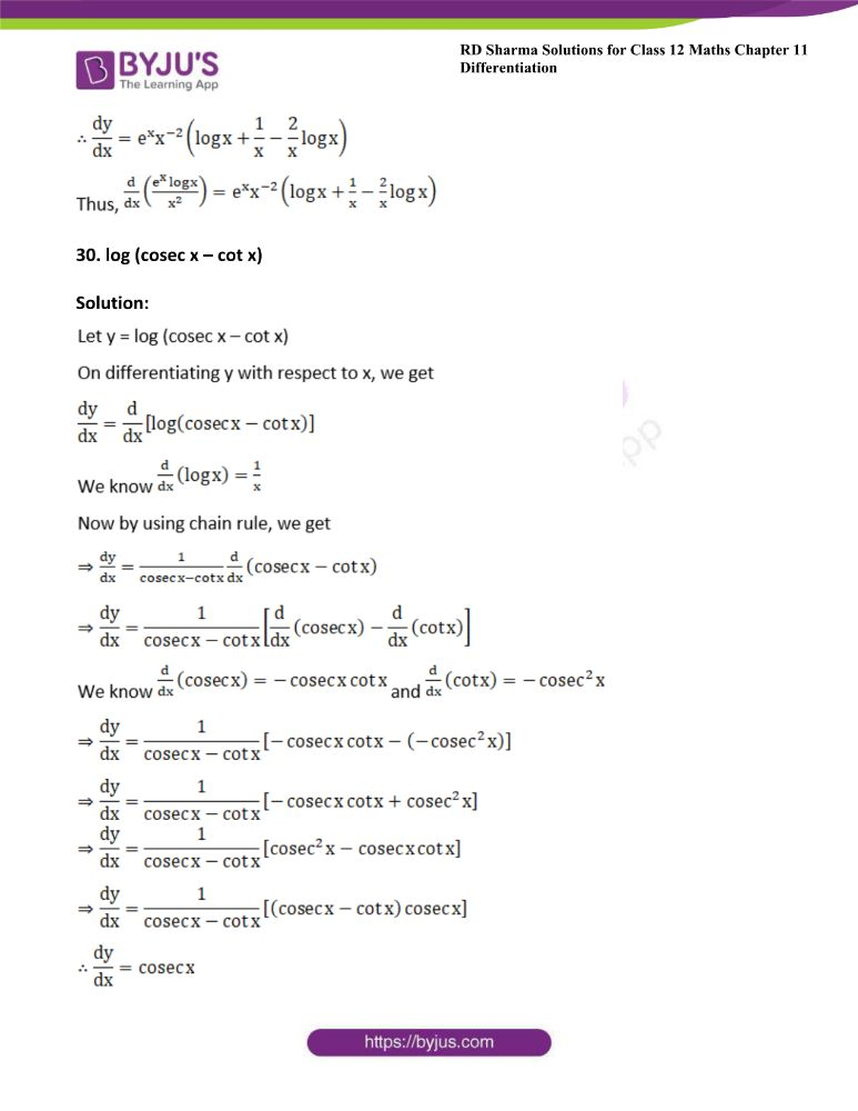 RD Sharma Class 12 Maths Solutions Chapter 11 Differentiation 40