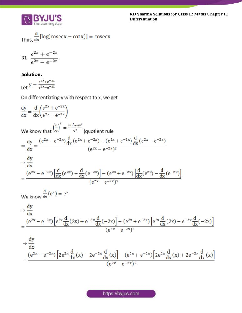 RD Sharma Class 12 Maths Solutions Chapter 11 Differentiation 41