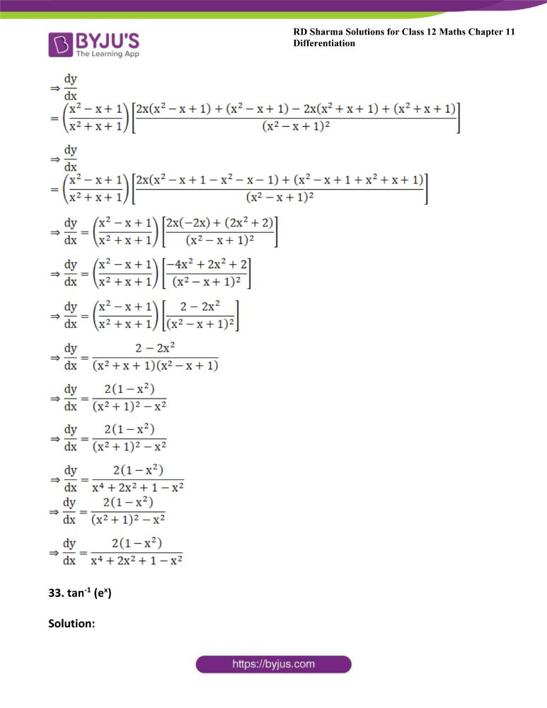 RD Sharma Class 12 Maths Solutions Chapter 11 Differentiation 44