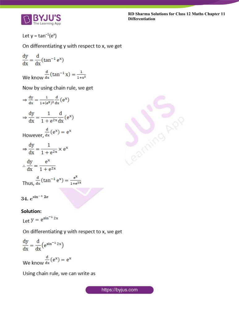 RD Sharma Class 12 Maths Solutions Chapter 11 Differentiation 45