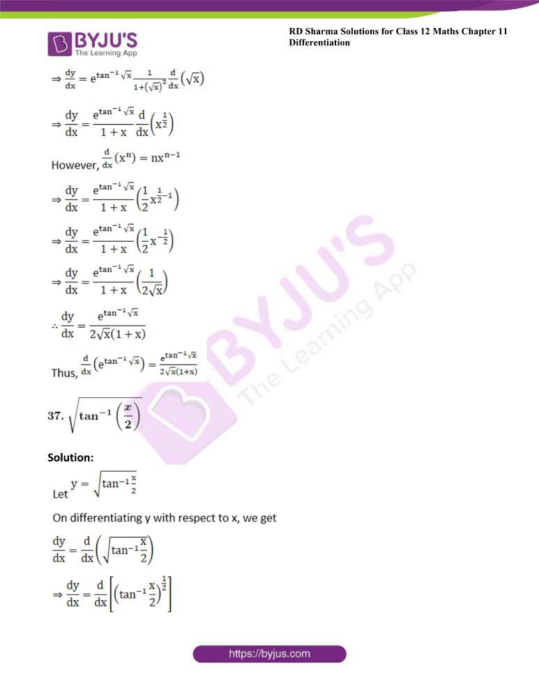 RD Sharma Class 12 Maths Solutions Chapter 11 Differentiation 48