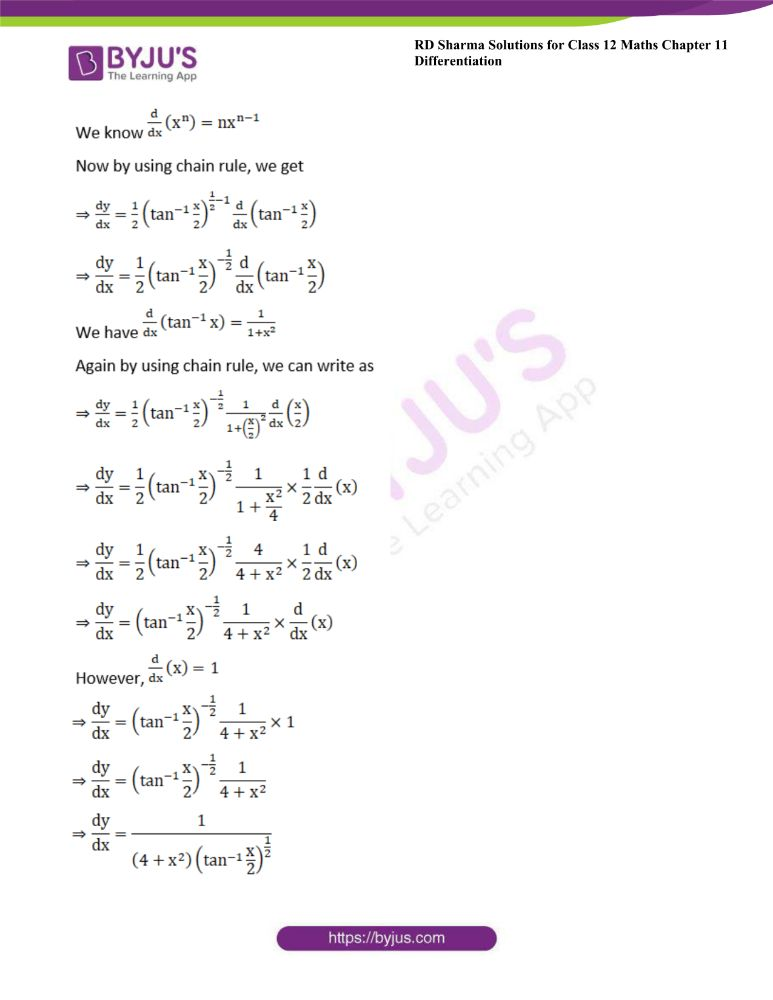 RD Sharma Class 12 Maths Solutions Chapter 11 Differentiation 49