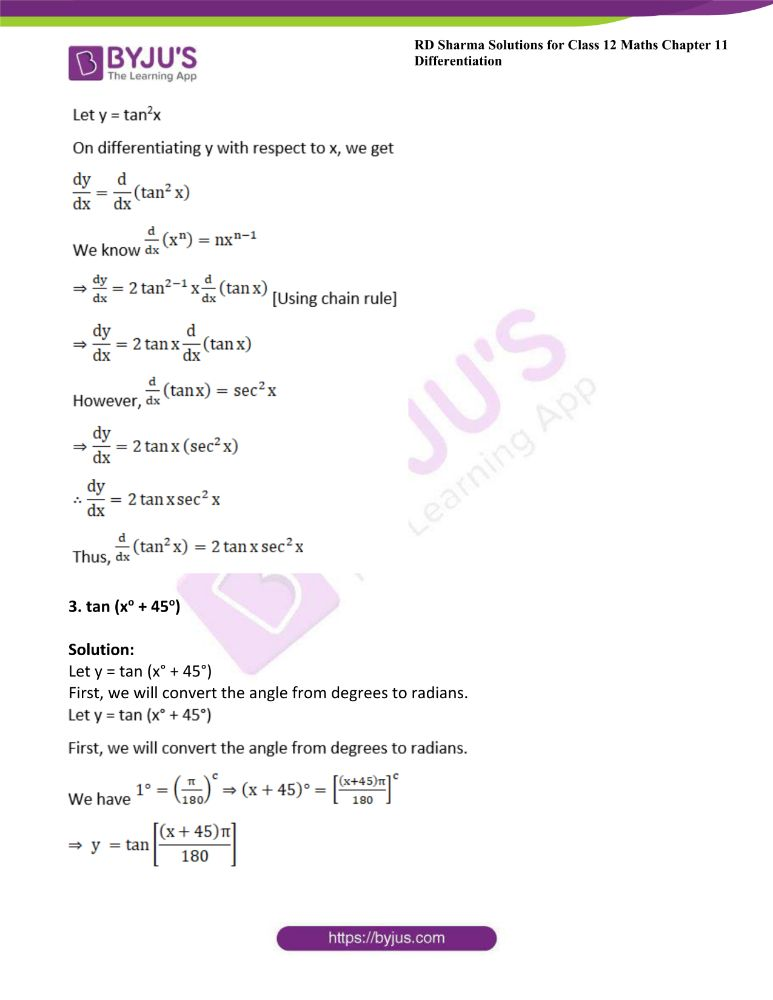 RD Sharma Class 12 Maths Solutions Chapter 11 Differentiation 5