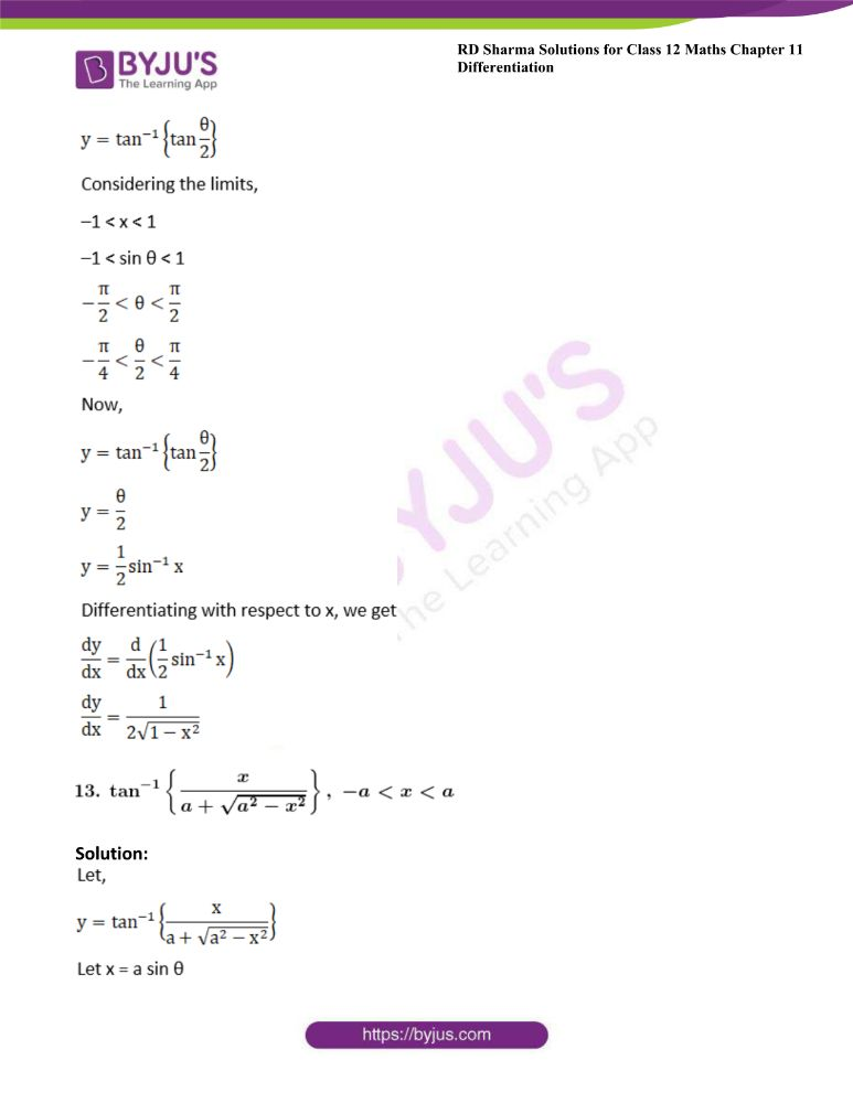 RD Sharma Class 12 Maths Solutions Chapter 11 Differentiation 64