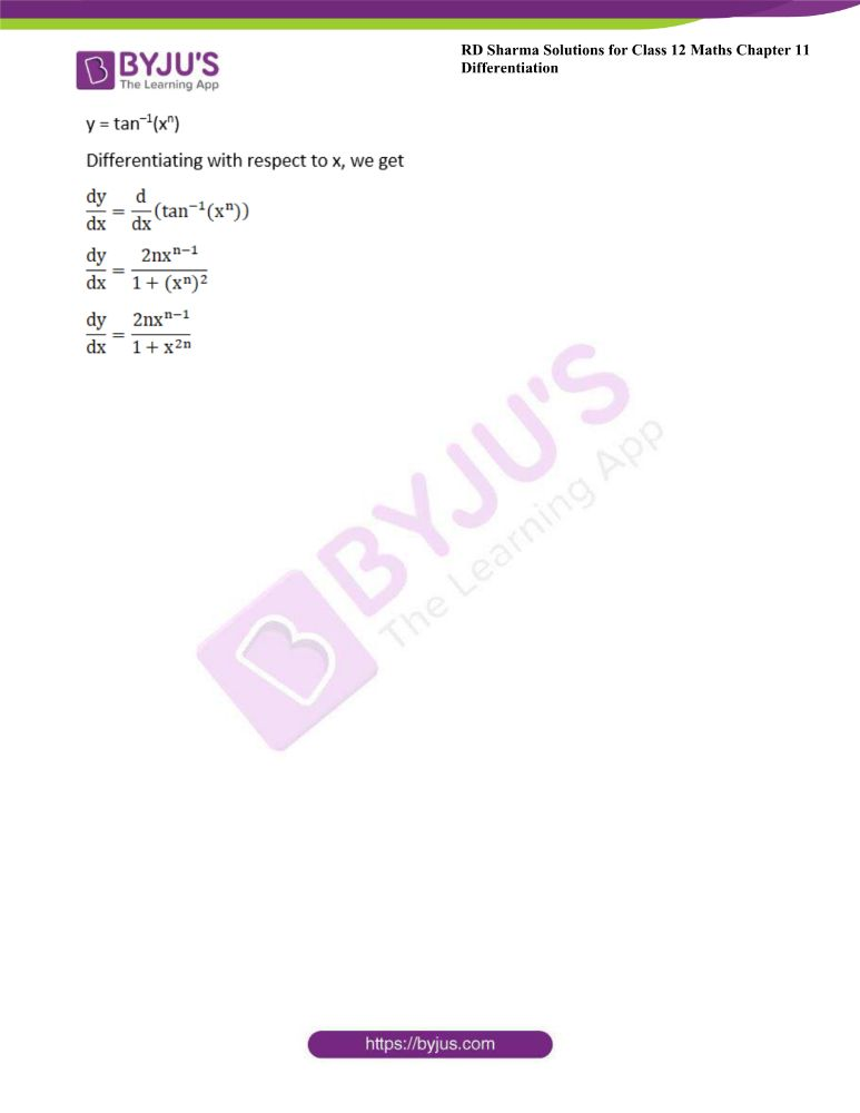 RD Sharma Class 12 Maths Solutions Chapter 11 Differentiation Exercise 11.3 27