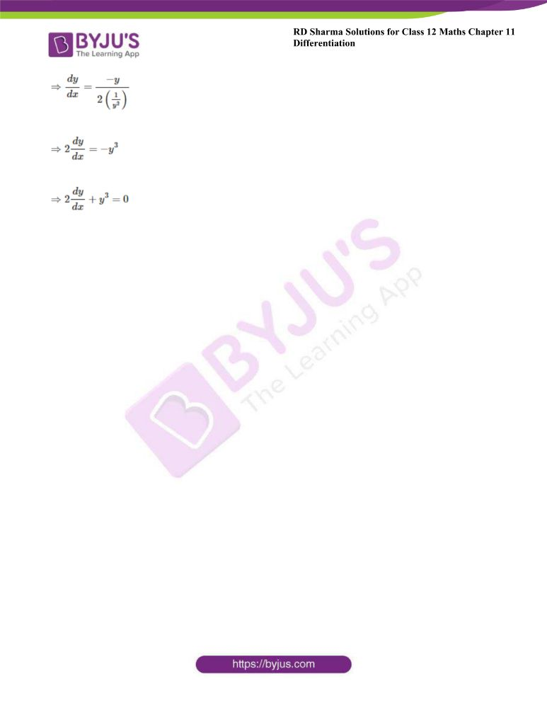 RD Sharma Class 12 Maths Solutions Chapter 11 Differentiation Exercise 11.4 12