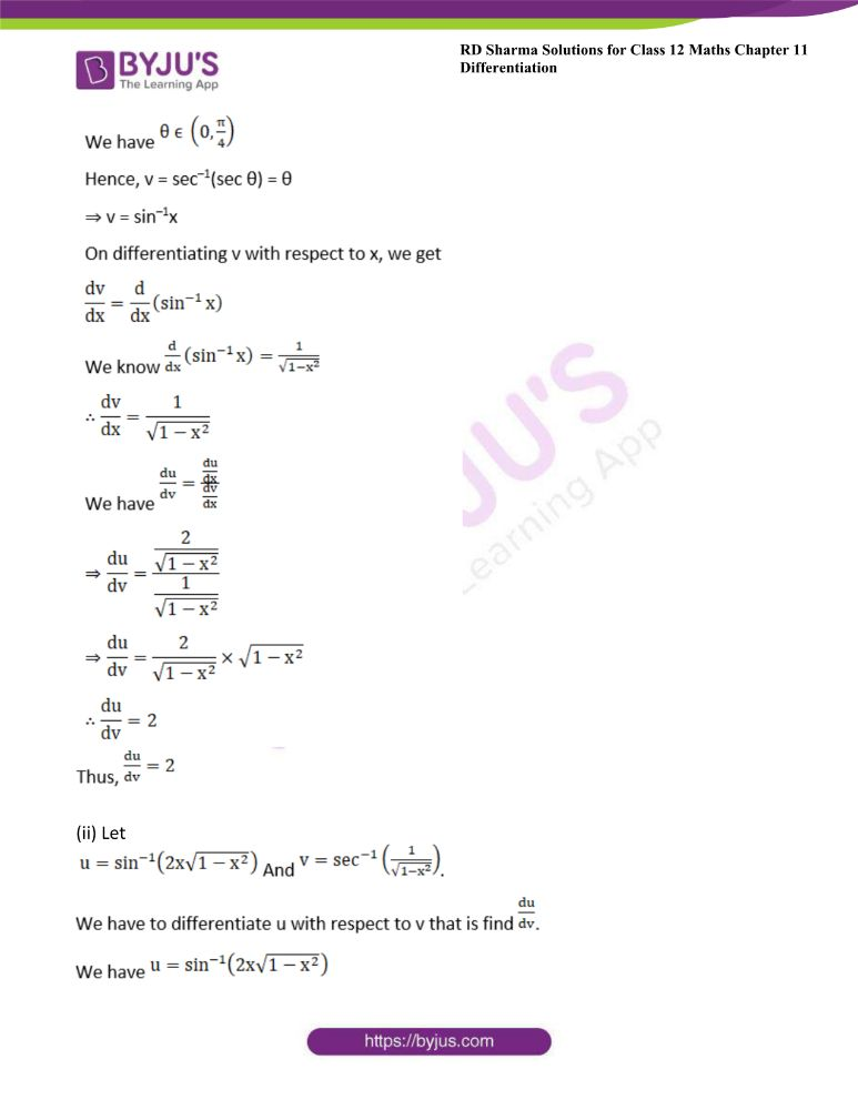 RD Sharma Class 12 Maths Solutions Chapter 11 Differentiation Exercise 11.8 21