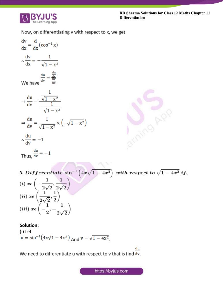 RD Sharma Class 12 Maths Solutions Chapter 11 Differentiation Exercise 11.8 7