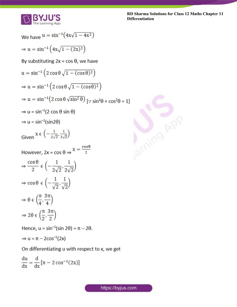 RD Sharma Class 12 Maths Solutions Chapter 11 Differentiation Exercise 11.8 8