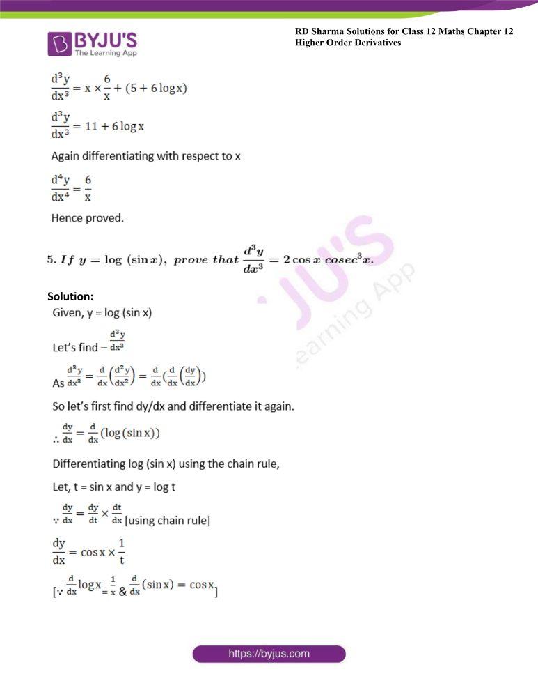 RD Sharma Class 12 Maths Solutions Chapter 12 Higher Order Derivatives 13