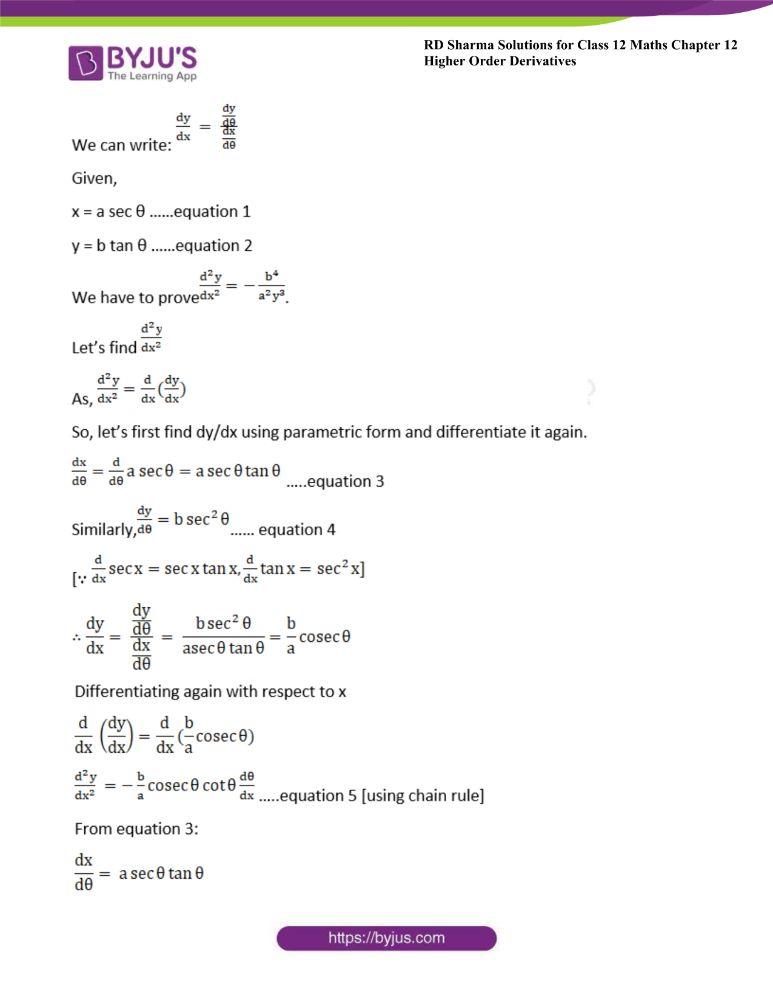 RD Sharma Class 12 Maths Solutions Chapter 12 Higher Order Derivatives 17