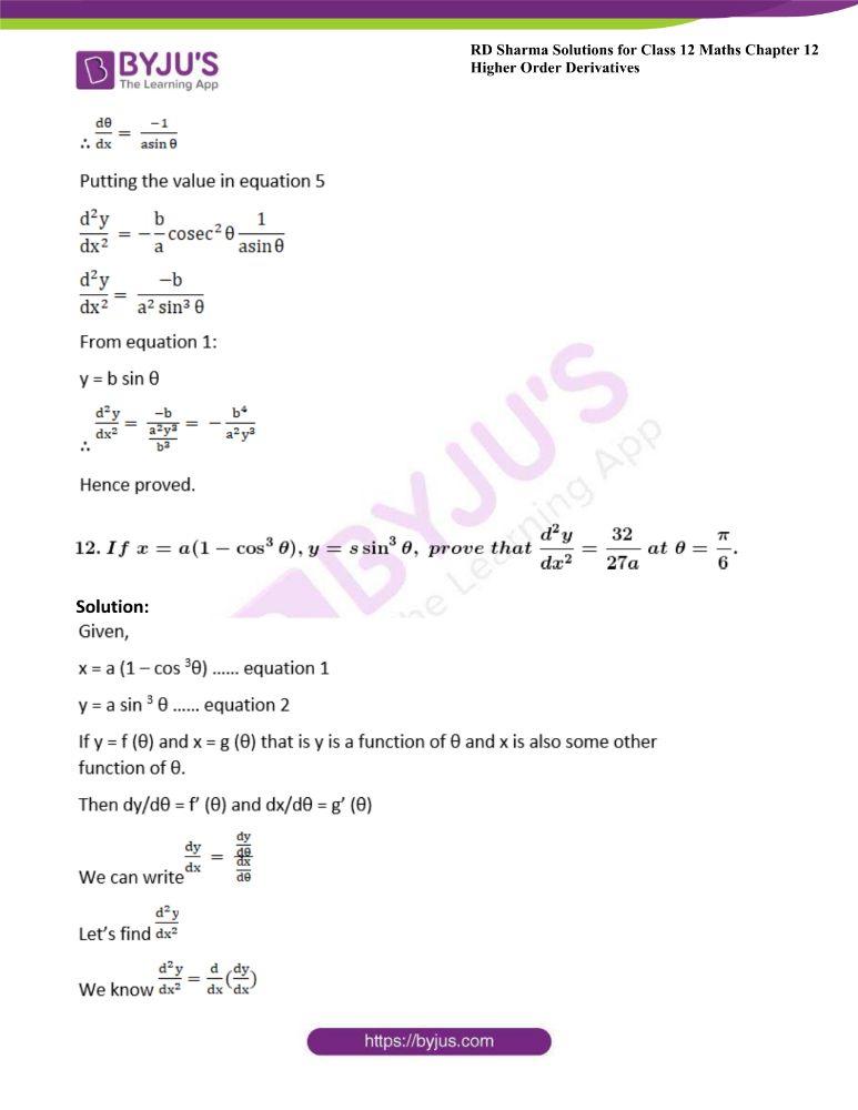 RD Sharma Class 12 Maths Solutions Chapter 12 Higher Order Derivatives 23