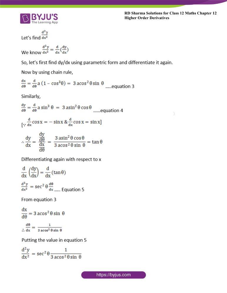 RD Sharma Class 12 Maths Solutions Chapter 12 Higher Order Derivatives 24