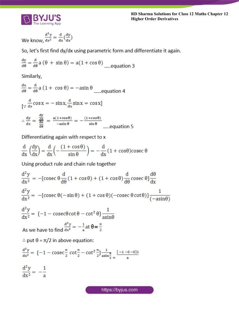 RD Sharma Class 12 Maths Solutions Chapter 12 Higher Order Derivatives 31