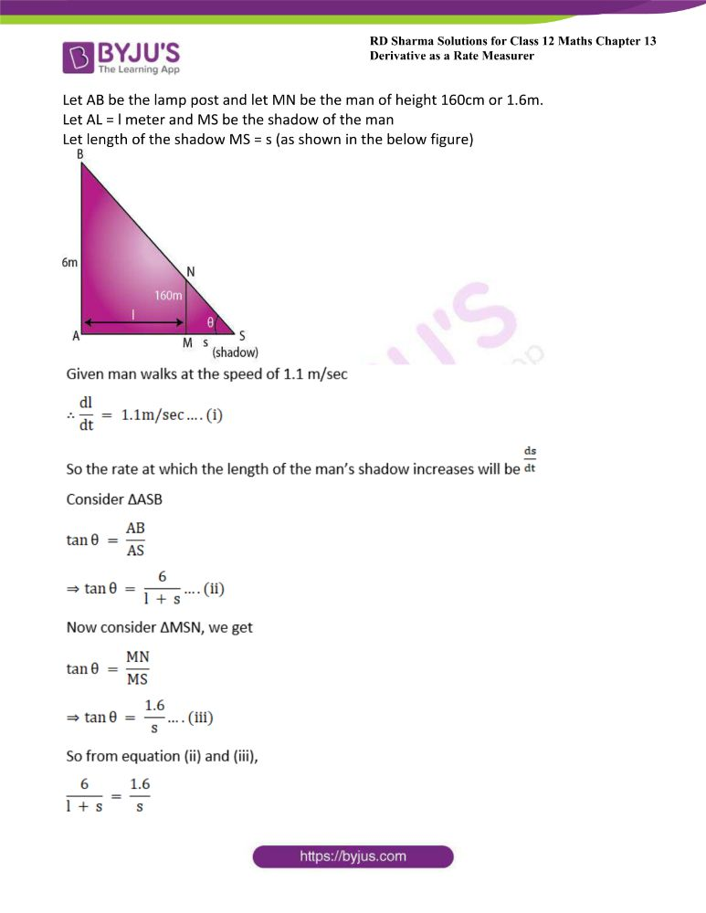 RD Sharma Class 12 Maths Solutions Chapter 13 Derivative As A Rate Measurer 12