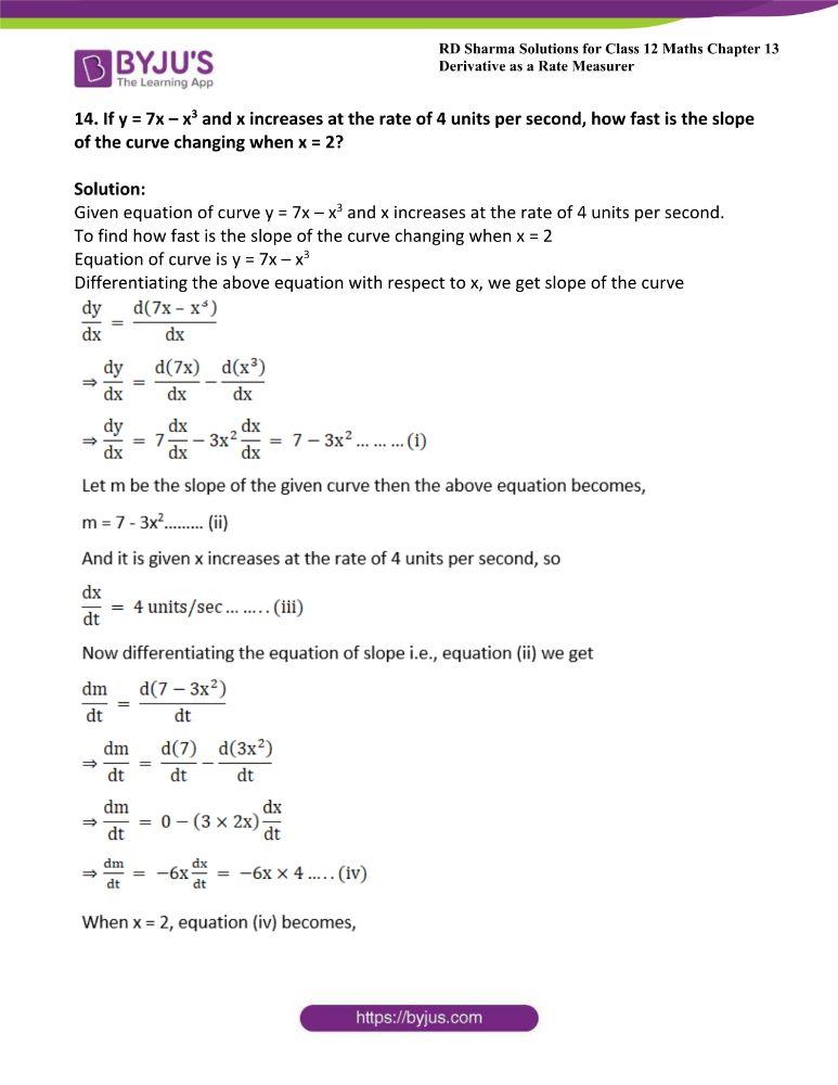 RD Sharma Class 12 Maths Solutions Chapter 13 Derivative As A Rate Measurer 19