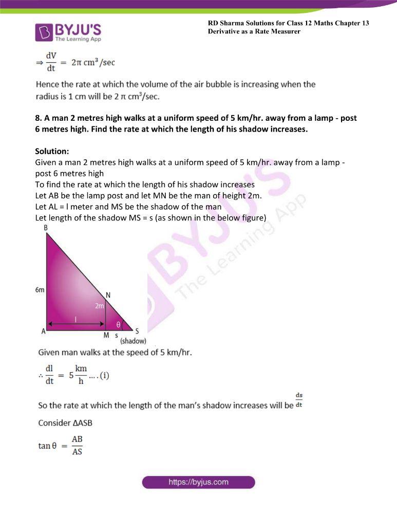 RD Sharma Class 12 Maths Solutions Chapter 13 Derivative As A Rate Measurer 9