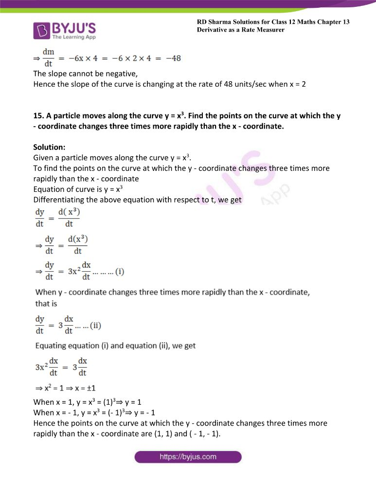 RD Sharma Class 12 Maths Solutions Chapter 13 Derivative As A Rate Measurer Exercise 13.2 17