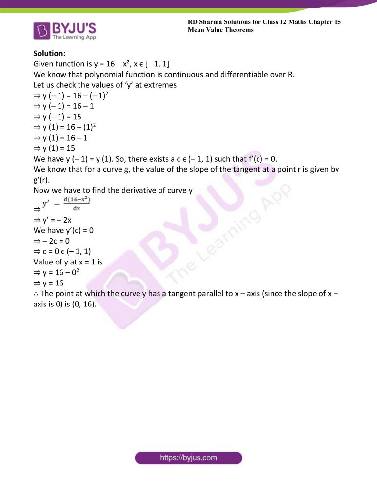 RD Sharma Class 12 Maths Solutions Chapter 15 Mean Value Theorems 35