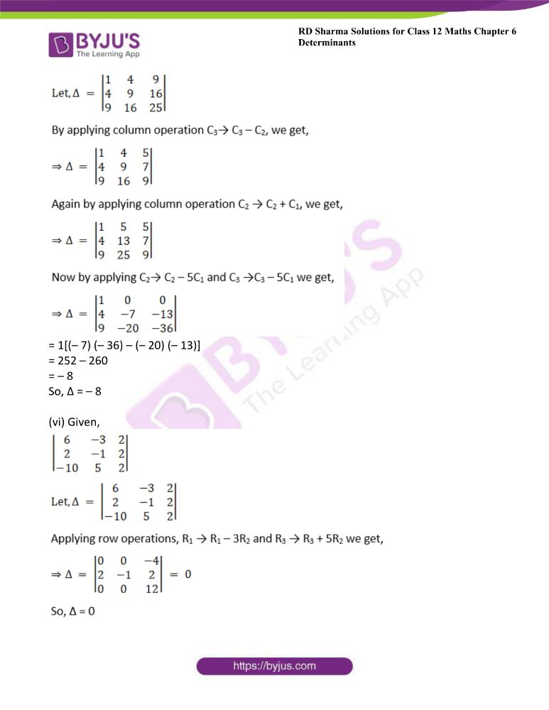 RD Sharma Class 12 Maths Solutions Chapter 6 Determinants 14