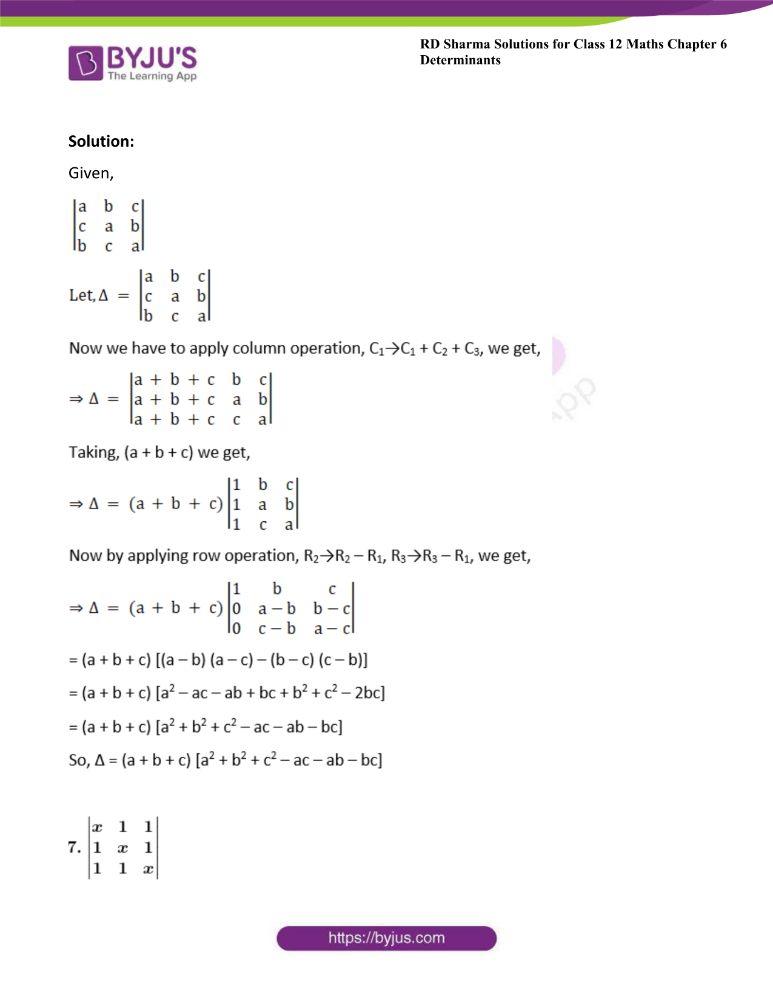 RD Sharma Class 12 Maths Solutions Chapter 6 Determinants 32
