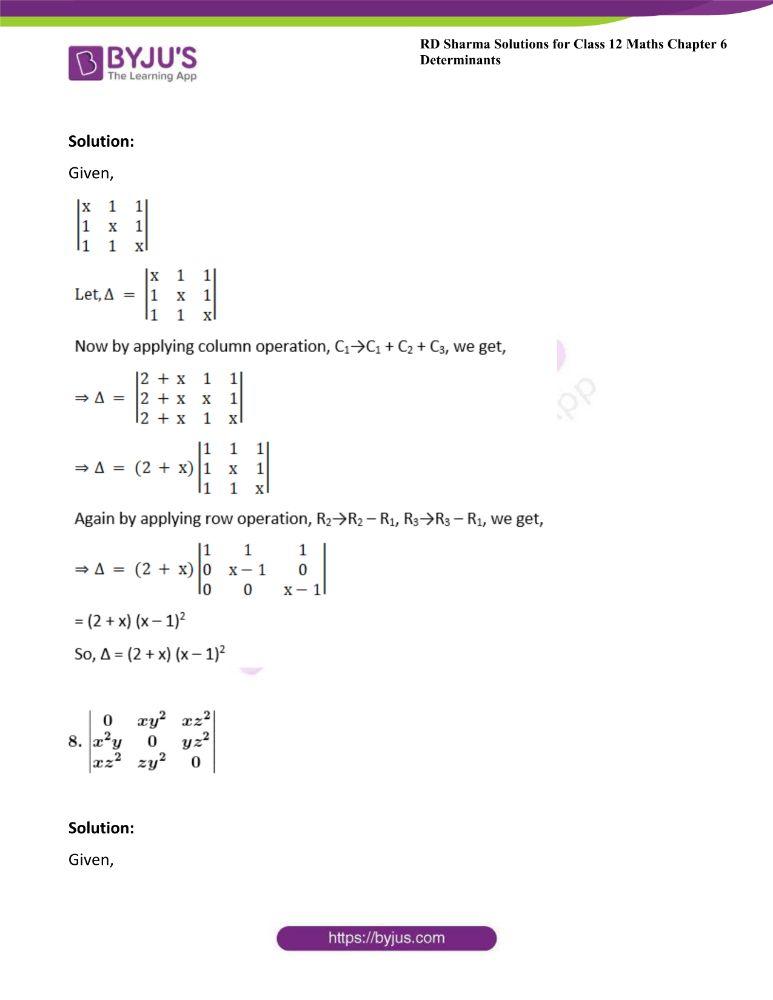 RD Sharma Class 12 Maths Solutions Chapter 6 Determinants 33