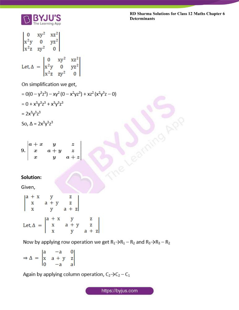RD Sharma Class 12 Maths Solutions Chapter 6 Determinants 34