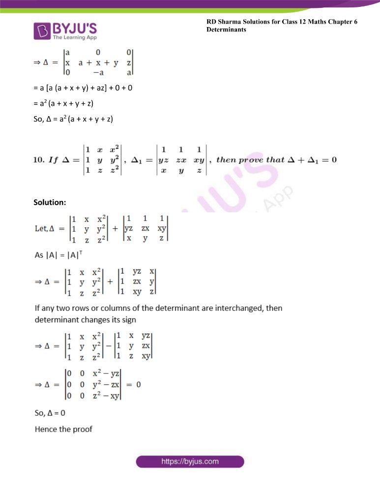 RD Sharma Class 12 Maths Solutions Chapter 6 Determinants 35