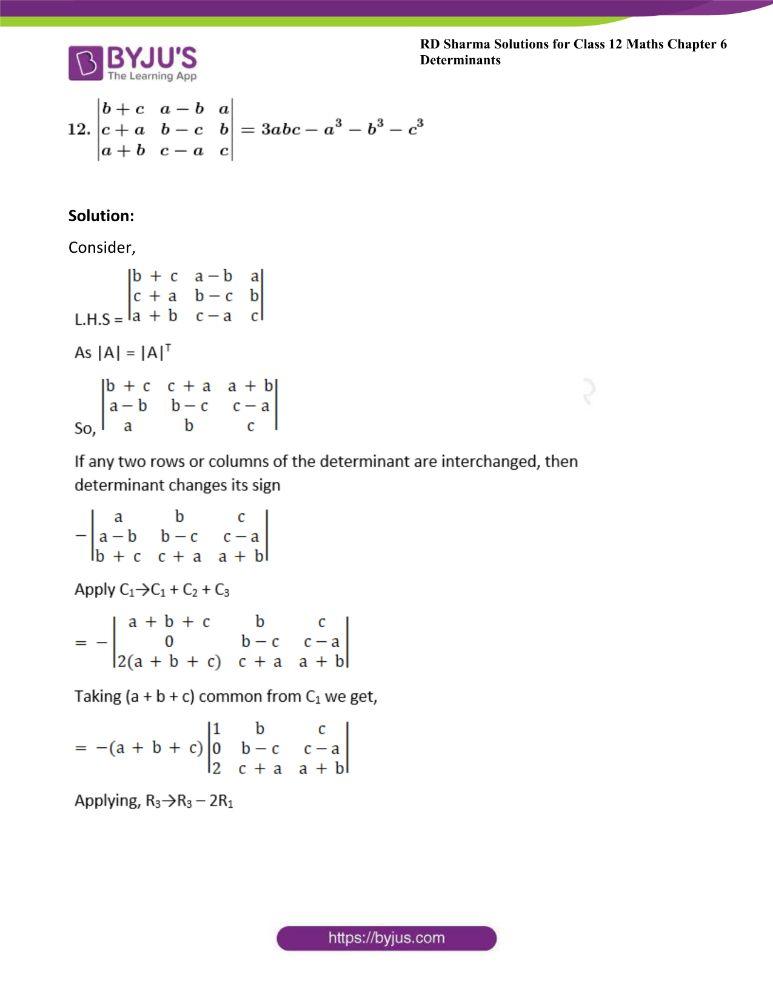 RD Sharma Class 12 Maths Solutions Chapter 6 Determinants 37