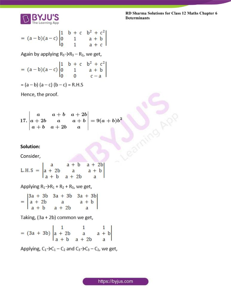 RD Sharma Class 12 Maths Solutions Chapter 6 Determinants 42
