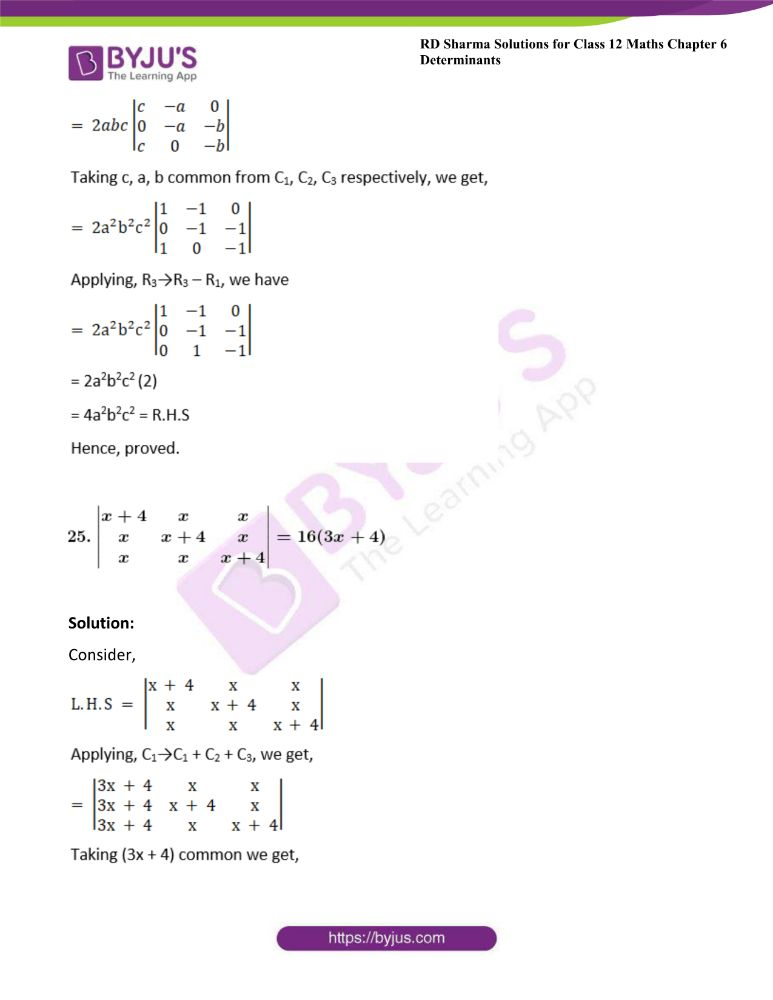 RD Sharma Class 12 Maths Solutions Chapter 6 Determinants 50