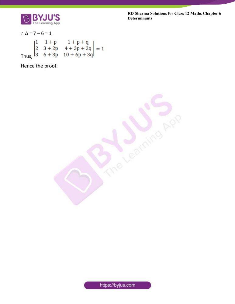 RD Sharma Class 12 Maths Solutions Chapter 6 Determinants 53
