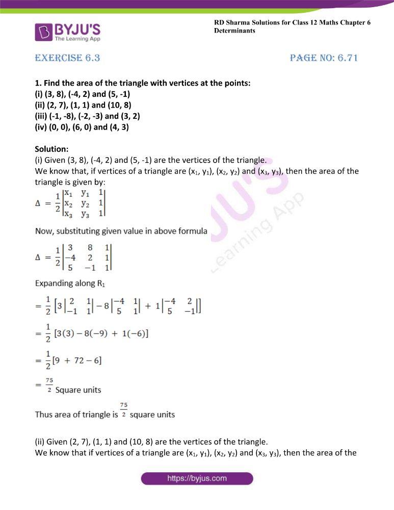 RD Sharma Class 12 Maths Solutions Chapter 6 Determinants 54