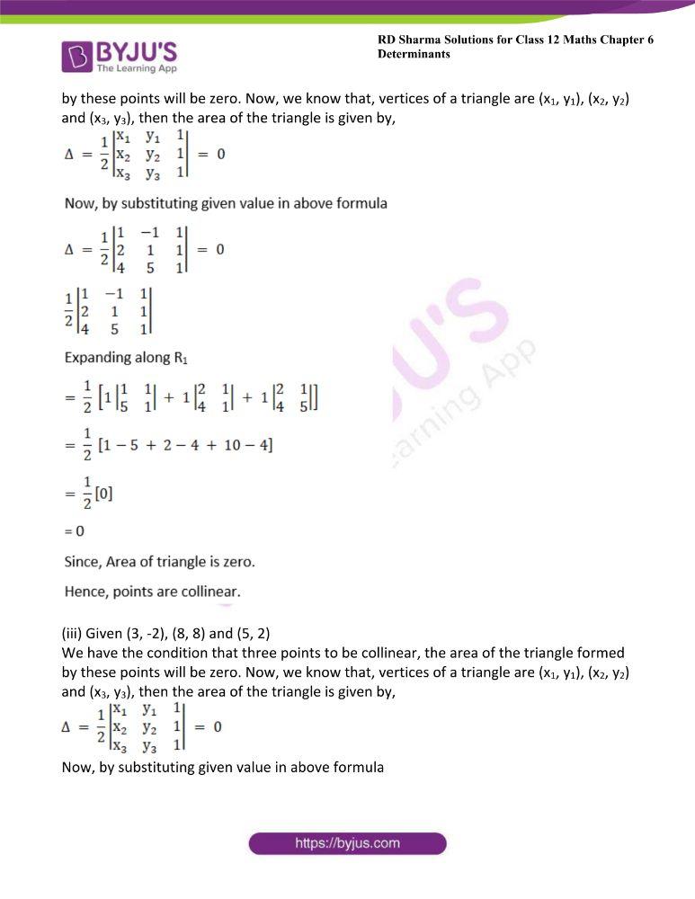 RD Sharma Class 12 Maths Solutions Chapter 6 Determinants 58