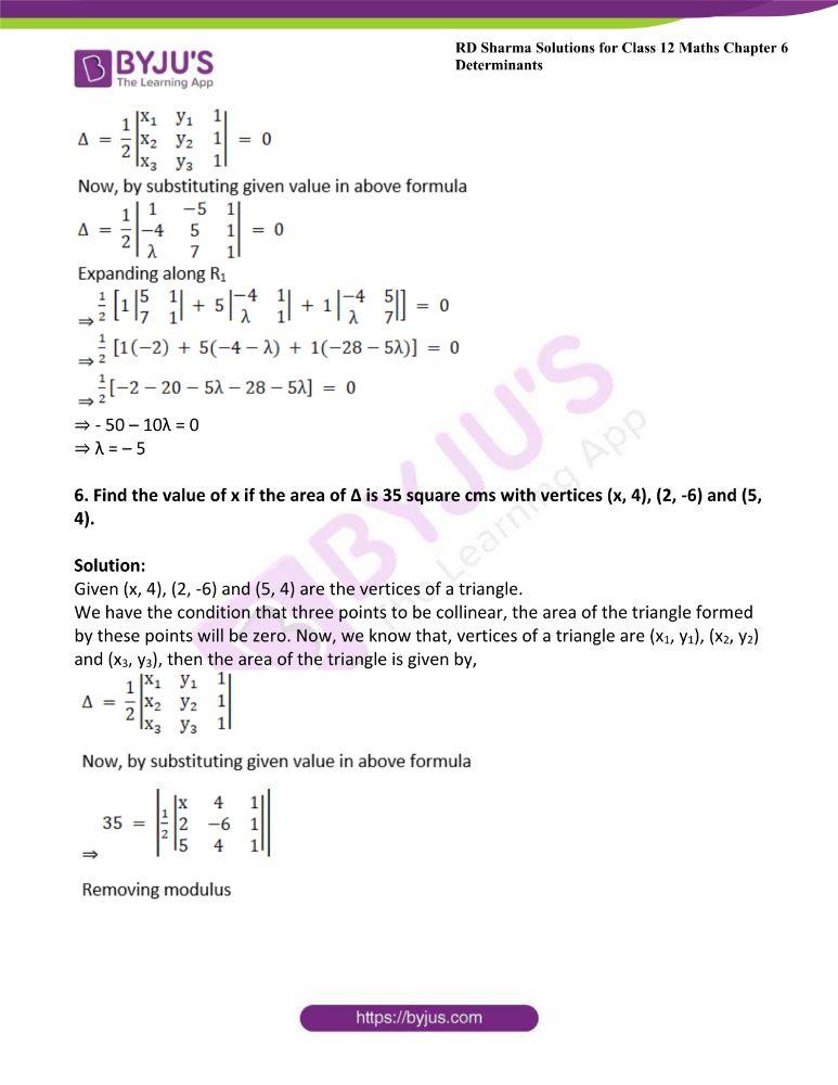 RD Sharma Class 12 Maths Solutions Chapter 6 Determinants 62