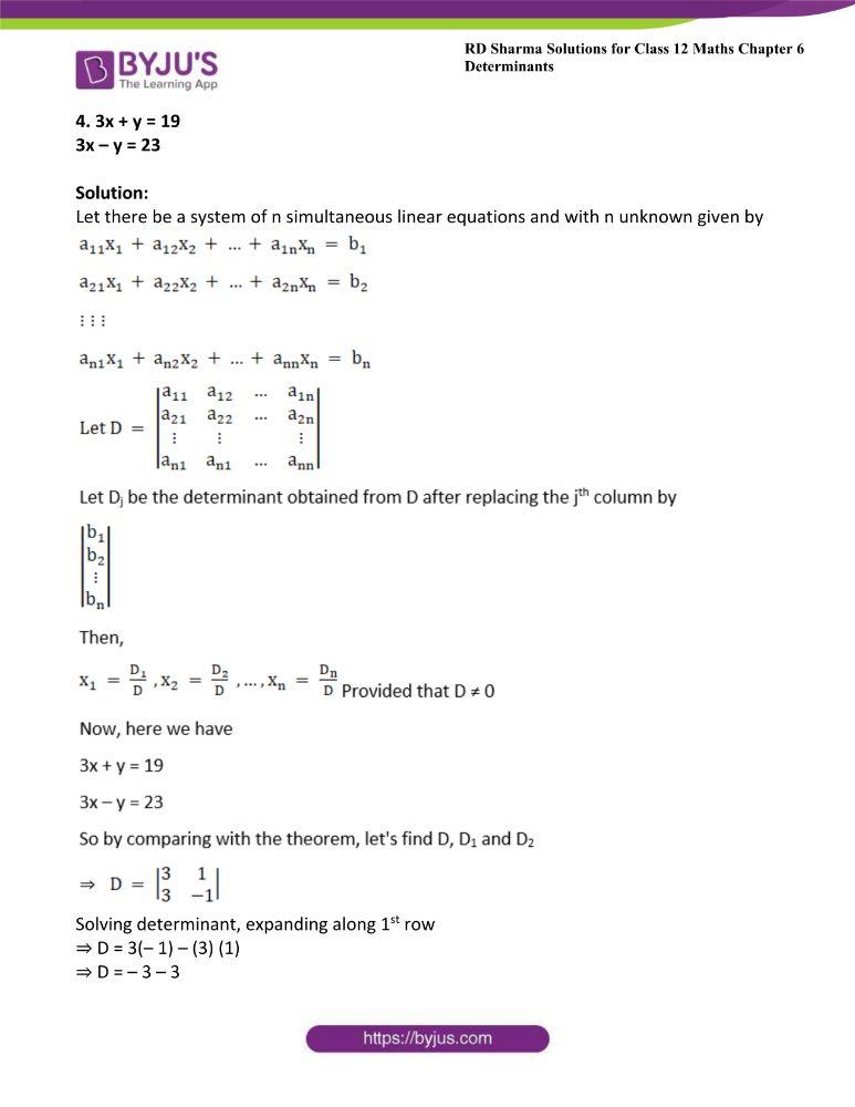 RD Sharma Class 12 Maths Solutions Chapter 6 Determinants 69