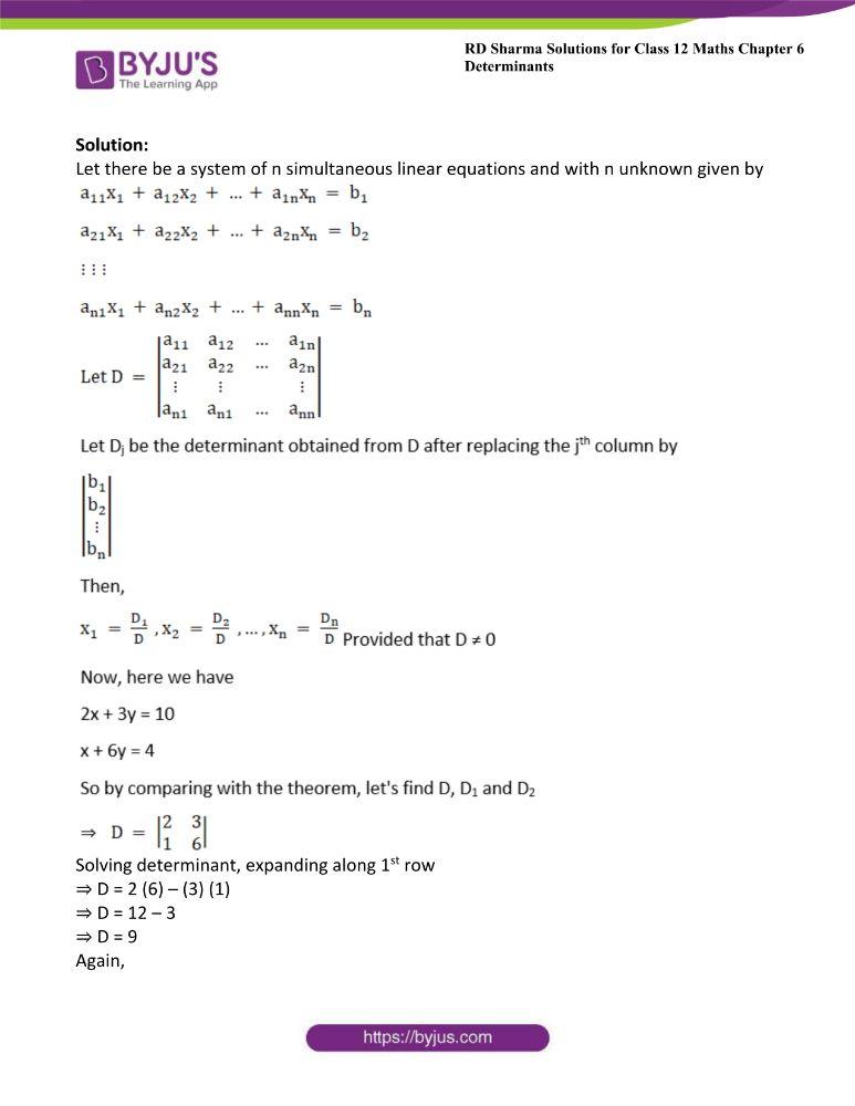 RD Sharma Class 12 Maths Solutions Chapter 6 Determinants 74