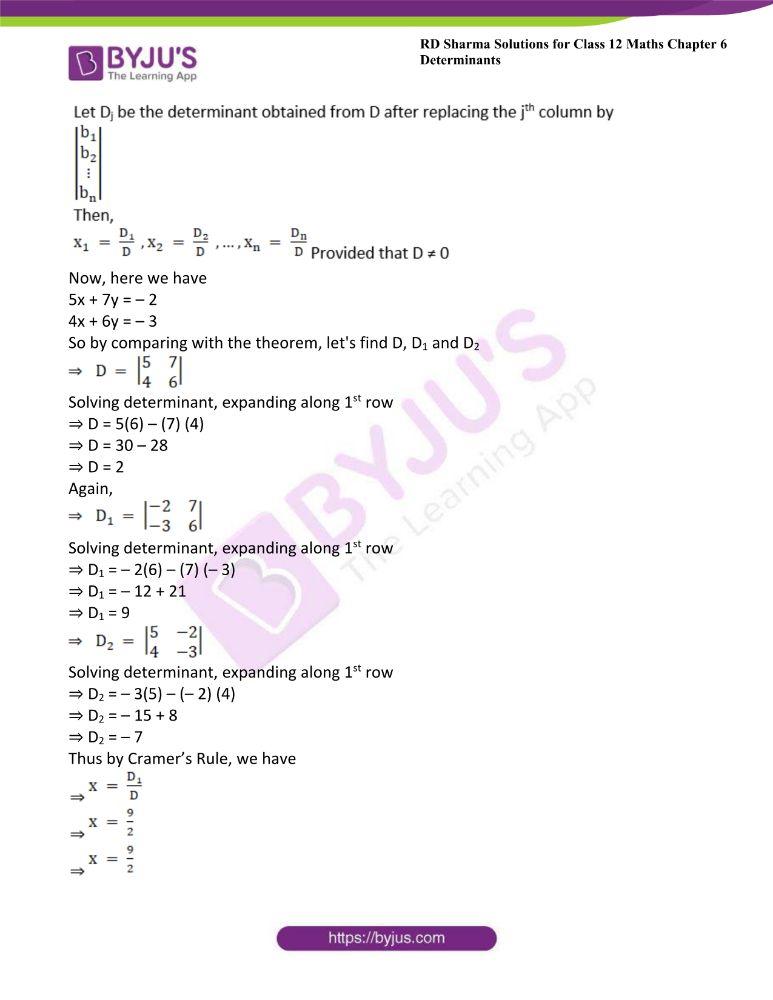 RD Sharma Class 12 Maths Solutions Chapter 6 Determinants 76