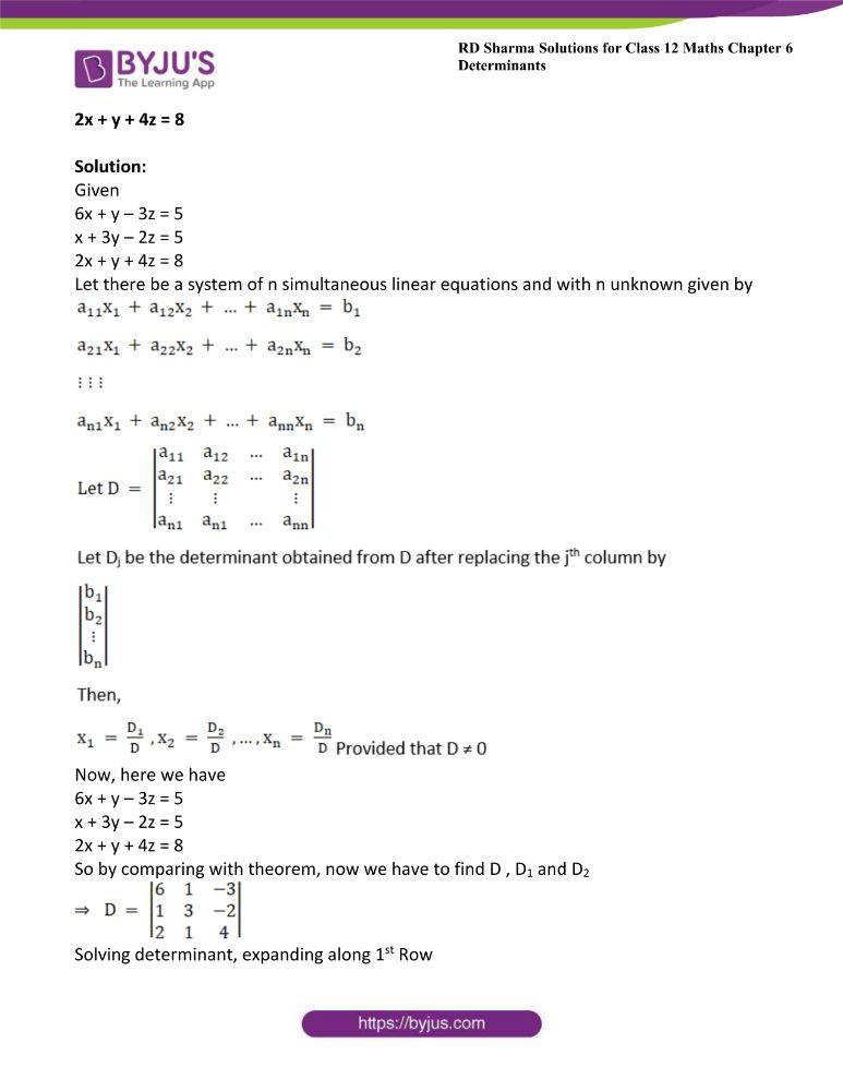 RD Sharma Class 12 Maths Solutions Chapter 6 Determinants 85