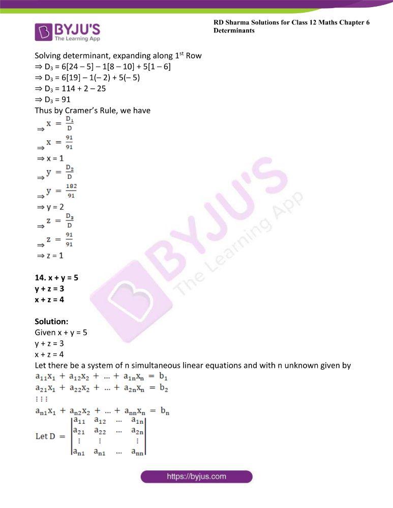 RD Sharma Class 12 Maths Solutions Chapter 6 Determinants 87