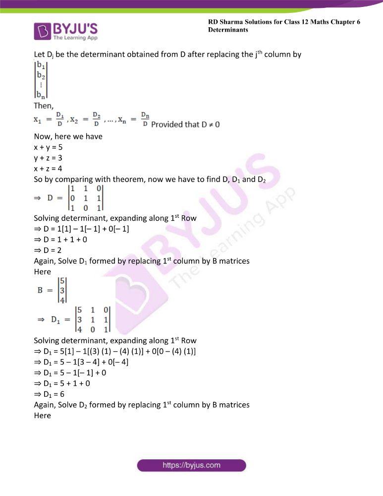 RD Sharma Class 12 Maths Solutions Chapter 6 Determinants 88