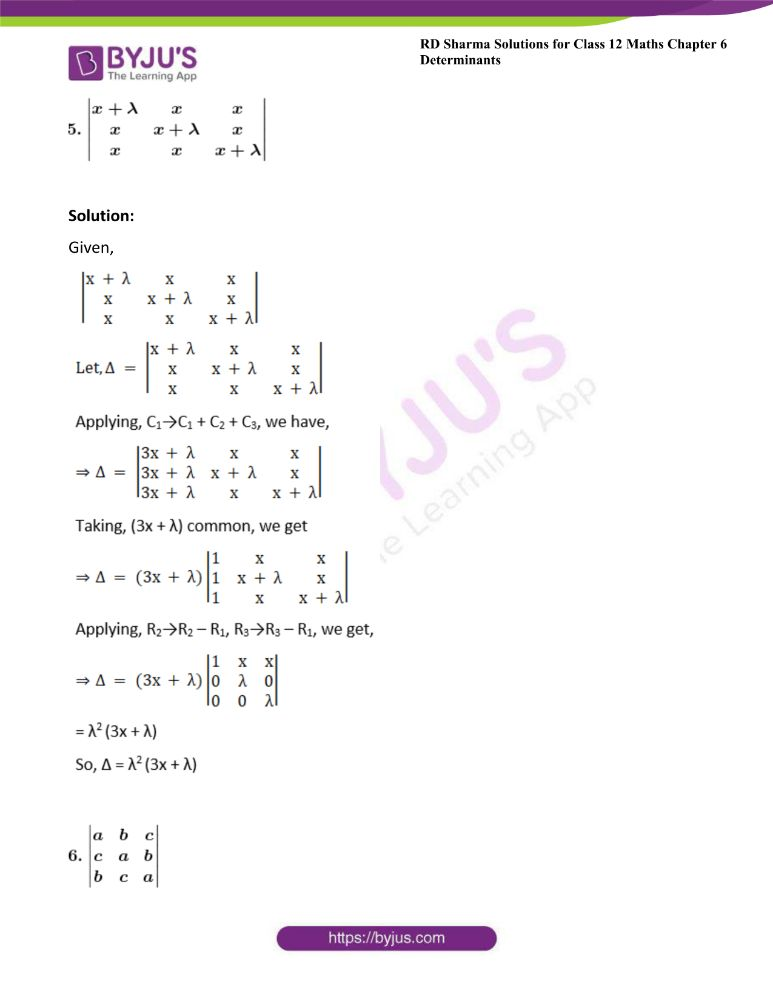 RD Sharma Class 12 Maths Solutions Chapter 6 Determinants Exercise 6.2 20