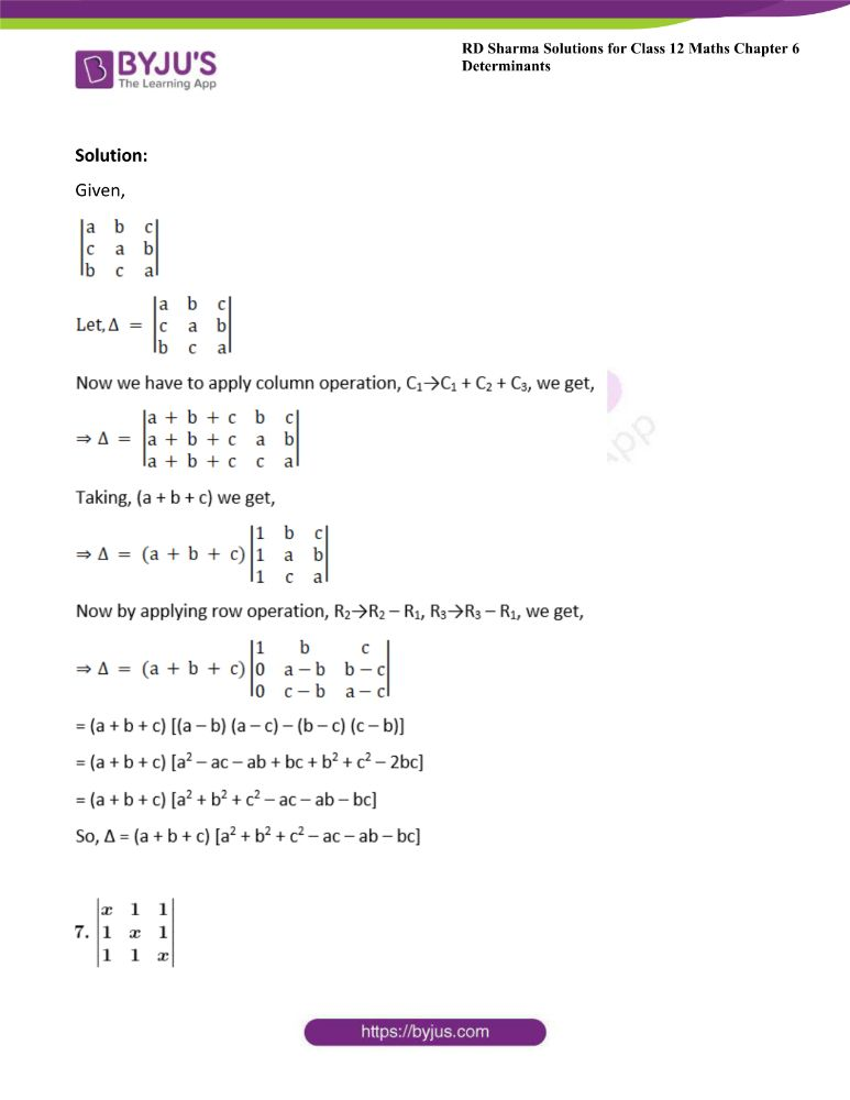 RD Sharma Class 12 Maths Solutions Chapter 6 Determinants Exercise 6.2 21