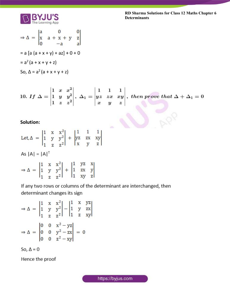RD Sharma Class 12 Maths Solutions Chapter 6 Determinants Exercise 6.2 24