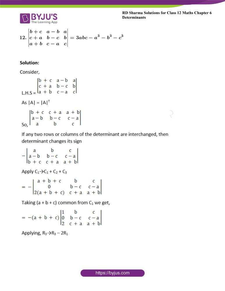 RD Sharma Class 12 Maths Solutions Chapter 6 Determinants Exercise 6.2 26
