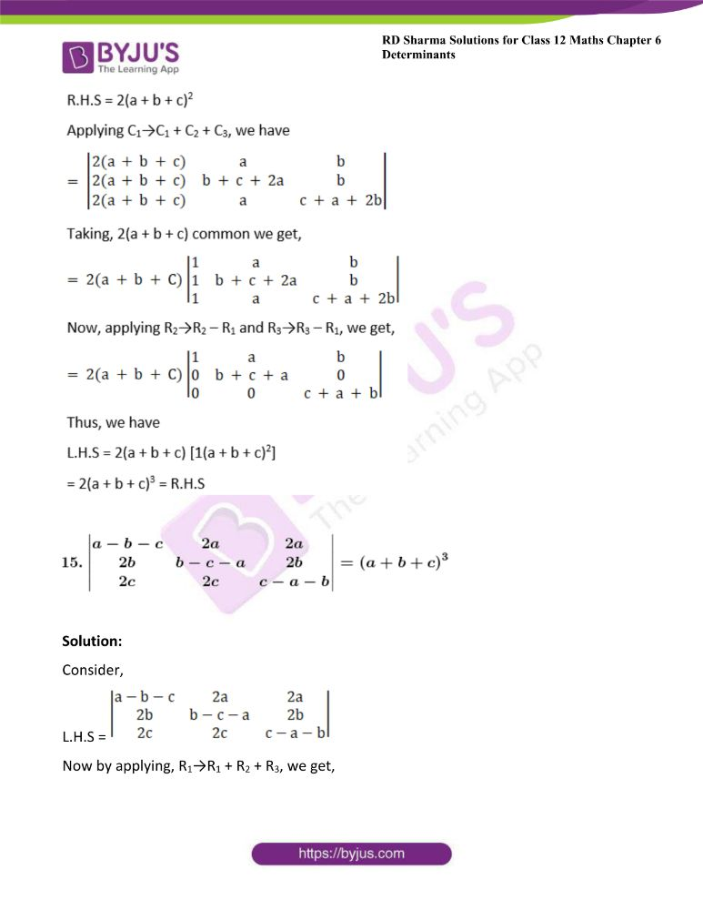 RD Sharma Class 12 Maths Solutions Chapter 6 Determinants Exercise 6.2 29