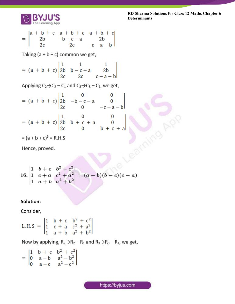 RD Sharma Class 12 Maths Solutions Chapter 6 Determinants Exercise 6.2 30